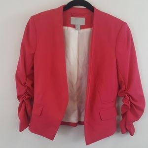 H&M fuchsia open front Blazer size 4